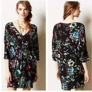 Maeve Anthro Petal Palette Floral Tunic Dress M